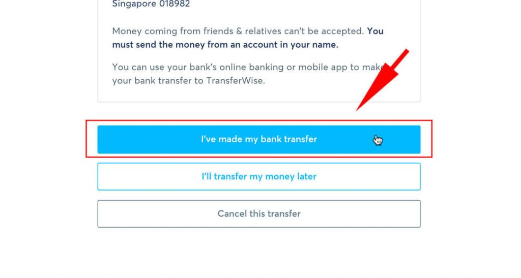 Step 5b - Confirm your transaction