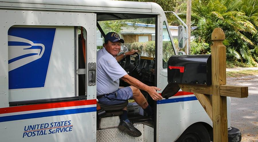 Photo of USPS worker